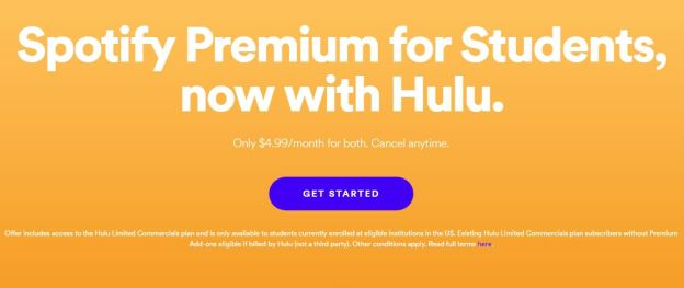 spotify premium for students now with hulu 2019 2020 developing career. Black Bedroom Furniture Sets. Home Design Ideas